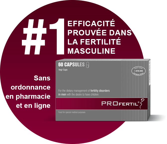 PROFERTIL®: #1 efficacité prouvée dans la fertilité masculine